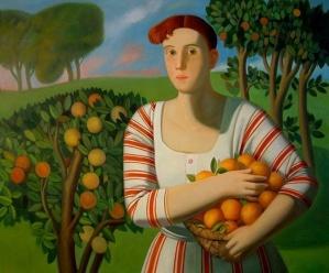 afifa donna con aranci
